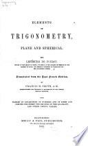 Elements of Trigonometry, Plane and Spherical