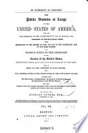"""The"" Public Statutes at Large of the United States of America ... Ed. by Richard Peters"