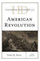 Historical Dictionary of the American Revolution Pdf/ePub eBook