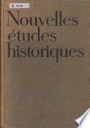 Nouvelles études historiques
