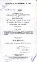 Panama Canal Act Amendments Of 1989