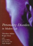 Personality Disorders in Modern Life Book