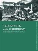 Terrorists and Terrorism Pdf/ePub eBook