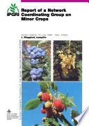 Report Of A Network Coordinating Group On Minor Crops Book PDF