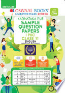 Oswaal Karnataka Pue Sample Question Papers I Puc Class 11 English Book For 2021 Exam