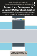 Research and Development in University Mathematics Education