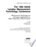 The 1992 NASA Langley Measurement Technology Conference