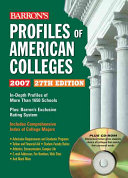 Profiles of American Colleges with CD ROM Book