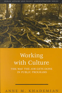 Working With Culture The Way The Job Gets Done In Public Programs
