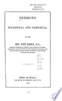 Sermons  Occasional and Parochial