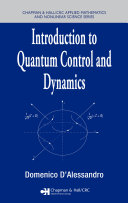 Introduction to Quantum Control and Dynamics