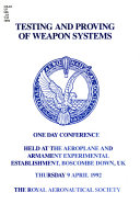 Testing and Proving of Weapon Systems