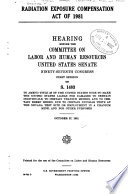 Radiation Exposure Compensation Act of 1981