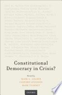 Constitutional Democracy In Crisis