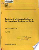 Systems Analysis Appliations at the Hydrologic Engineering Center
