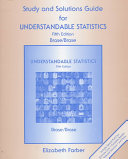 Study and Solutions Guide for Understandable Statistics