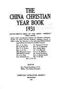 The China Christian Year Book