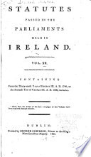 Statutes passed in the Parliaments held in Ireland