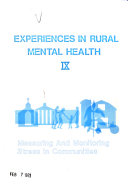 Experiences in Rural Mental Health  Measuring and monitoring stress in communities