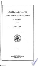 Publications of the Department of State  a Quarterly List