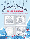 Advent Calendar Coloring Book   25 Numbered Christmas Coloring Pages Withe Frames