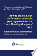 How to create a high performance culture in your organisation   the    Lean Thinking Company     way