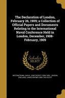 DECLARATION OF LONDON FEBRUARY