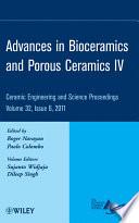 Advances In Bioceramics And Porous Ceramics Iv Book PDF
