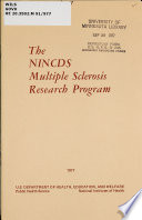 The NINCDS Multiple Sclerosis Research Program