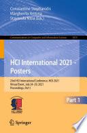 HCI International 2021   Posters Book