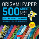Origami Paper 500 Sheets Nature Photo Patterns 6  15 Cm