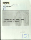 Summer 2010 Electricity Supply and Demand Outlook