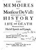 Pdf The Memories of Monsieur Du Vall