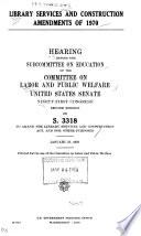 Manpower Development and Training Legislation, 1970