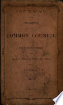 Journal Of The Common Council