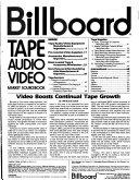 Billboard Tape  Audio  Video Market Sourcebook