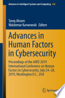Advances in Human Factors in Cybersecurity Book