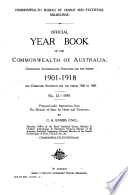 Official Year Book of the Commonwealth of Australia No  12   1919 Book