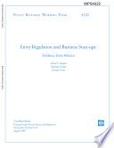 entry regulation and business start - ups : evidence from mexico