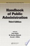 Handbook Of Public Administration Third Edition