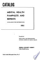Catalog Of Mental Health Pamphlets And Reprints Available For Distribution 1951