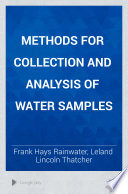 Methods for Collection and Analysis of Water Samples Book PDF