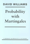 Probability with Martingales