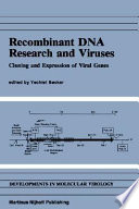 Recombinant DNA Research and Viruses Book