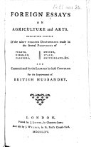 Foreign Essays on Agriculture and Arts