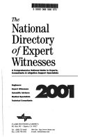 The National Directory of Expert Witnesses Book