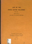 List of the World Active Volcanoes  with Map