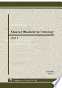 Advanced Manufacturing Technology Adme 2011 Book PDF