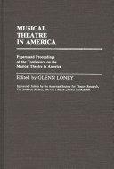 Musical Theatre in America