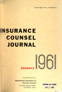 Insurance Counsel Journal